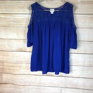 Stylus cold shoulder blouse top sz XL